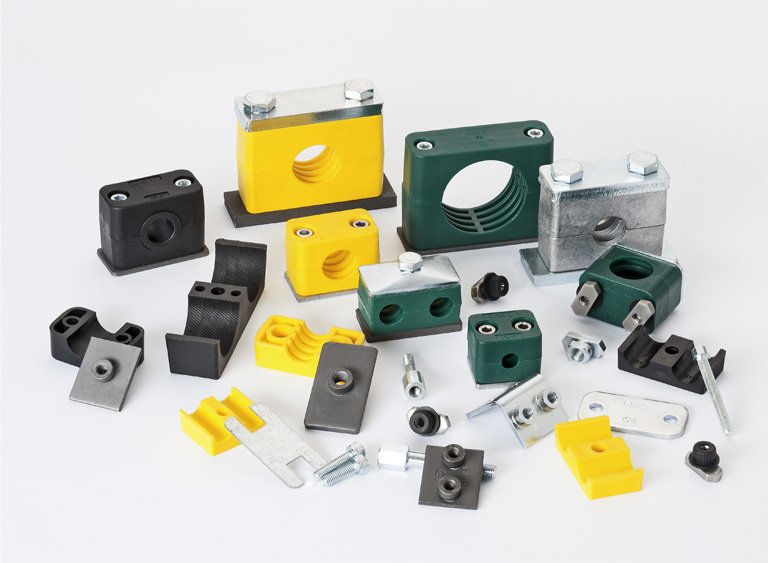 All types of pipe clamps